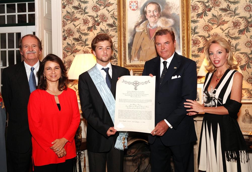 L'investitura a Cavaliere di Gran Croce di Giustizia dell'Ordine Costantiniano di S.A.R. Dom Alfonso Principe di Beira