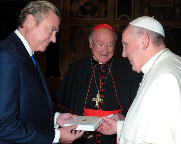 Duke and Duchess of Castro received by Pope Francis at the Vatican