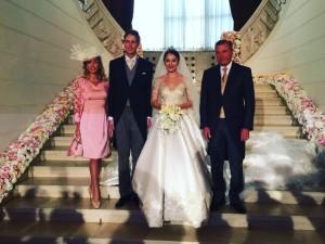 LL.AA.RR. il Principe Carlo e la Principessa Camilla di Borbone delle Due Sicilie con il Principe ereditario e la Principessa Leka di Albania.