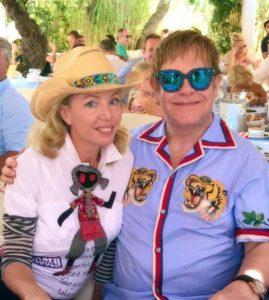 SAR Principessa Camilla di Borbone delle Due Sicilie con il Suo grande amico Sir Elton John