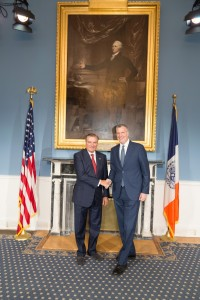 SAR con Mr Bill de Blasio sindaco di New York