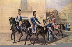 Gardes du Corps Royaux à cheval Aloja et Morghen