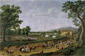 Manœuvres militaires dans la plaine de Sessa en mai 1794 (F. Hockert)