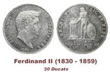 La monetización de Ferdinando II