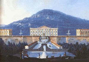 El Palacio Real en una pintura de 1700