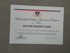 1 Docteur Honoris Causa HRH the Duchess of Castro 2