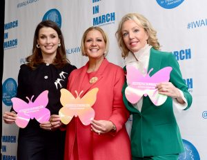 NEW YORK, NY - MARCH 08: Bridget Moynahan, First Lady of Panama Lorena Castillo De Varela and H.R.H. The Princess Camilla of Bourbon Two Sicilies, Duchess of Castro pose at the UNFPA Annual Awards Luncheon on March 8, 2018 in New York City. (Photo by Aurora Rose/Patrick McMullan via Getty Images)