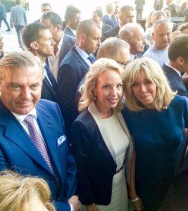 LL.AA.RR. i Duchi di Castro con Brigitte Marie-Claude Macron