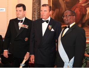 S.E._Sir_A._Bailey_S.A.R._il_Duca_di_Castro_S.E._il_Presidente_Commonwealth_della_Dominica