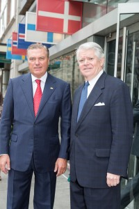 SAR con Mr Edward P Gallagher direttore della American Scandinavian Foundation
