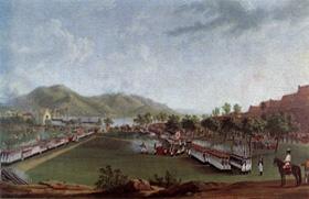 Maniobras militares delante pe la plaza de Gaeta 19 de mayo de 1787 (F. Hackert)