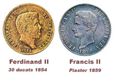 The monetary system under Ferdinand IV