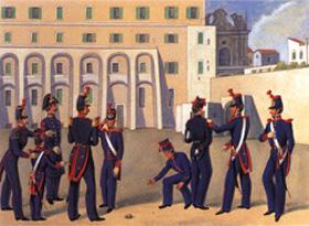 El cuerpo de oficiales de la Marina Real